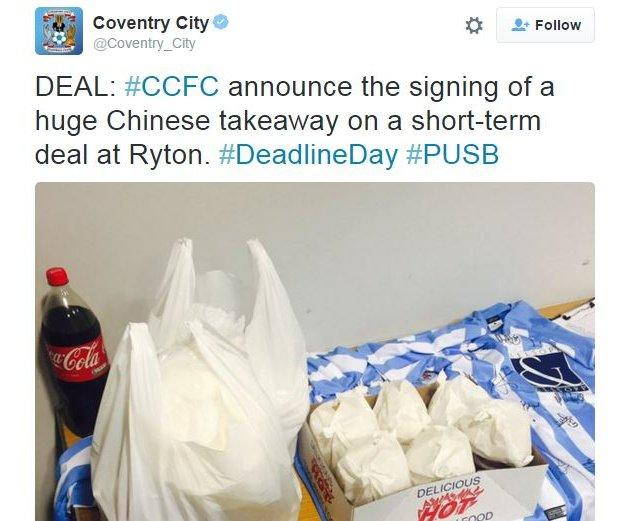 Coventry City photo of a Chinese takeaway