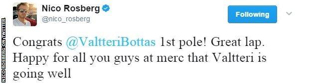 rosberg tweet