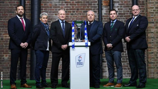 Team head coaches at the 2020 Women's Six Nations launch