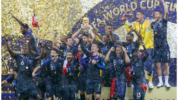 France lift the World Cup