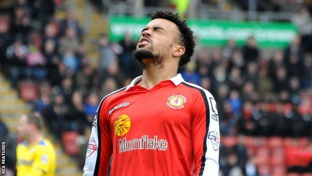 Crewe player Nicky Ajose
