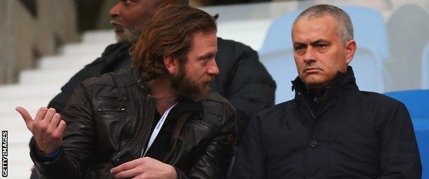 Jose Mourinho at Brighton on Saturday