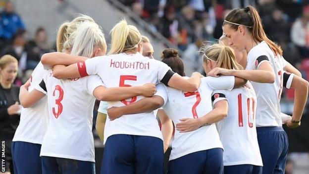England Lionesses team talk
