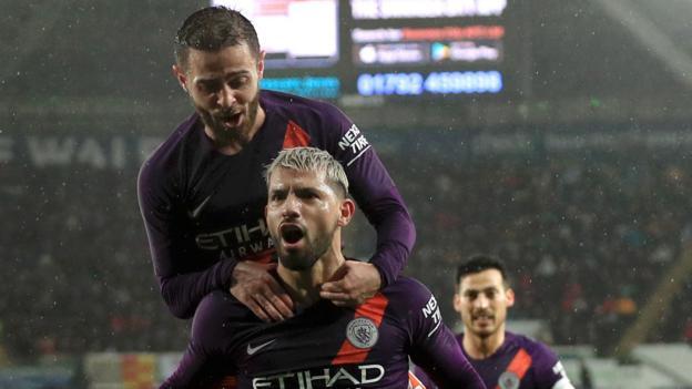 Swansea City 2-3 Manchester City: Sergio Aguero seals comeback in FA Cup thriller thumbnail