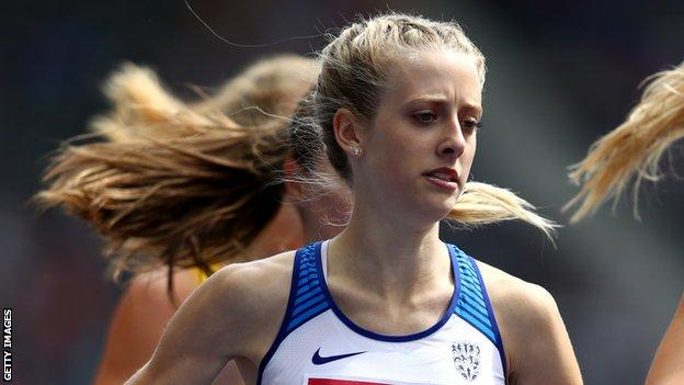 Jemma Reekie competes for Great Britain at the Athletics World Cup