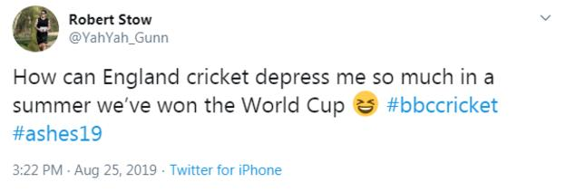 How can England cricket depress me so much in a summer we've won the World Cup?