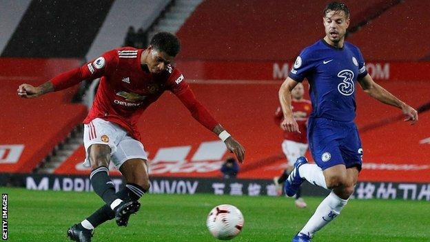 Marcus Rashford, Cesar Azpilicueta, Manchester United, Chelsea