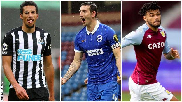 Isaac Hayden, Lewis Dunk, Tyrone Mings