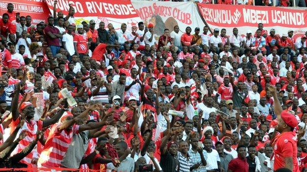 Fans of Tanzanian side Simba