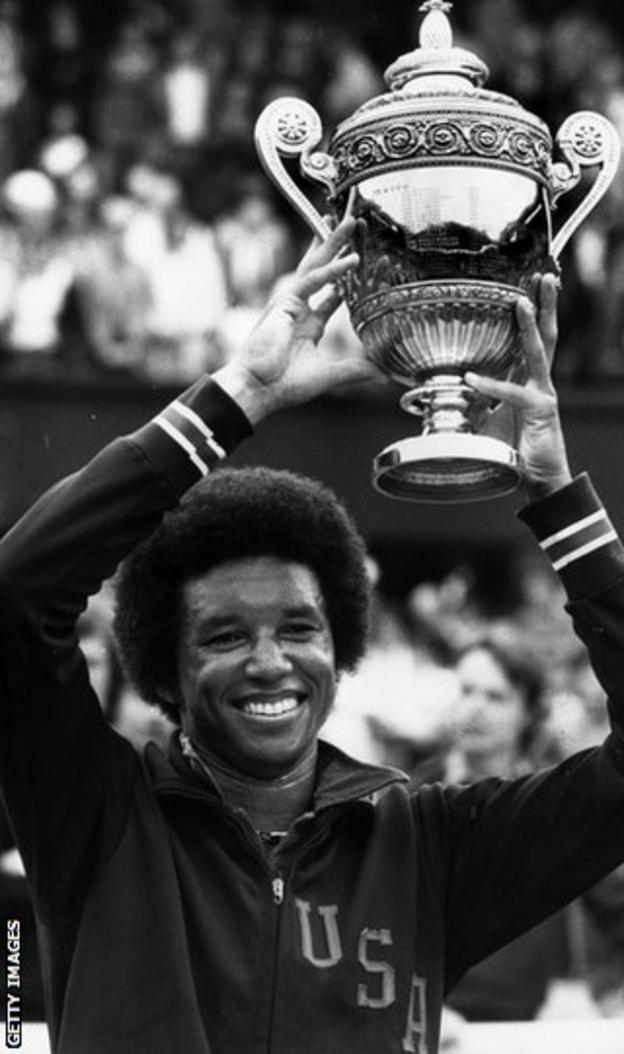 Arthur Ashe wins Wimbledon