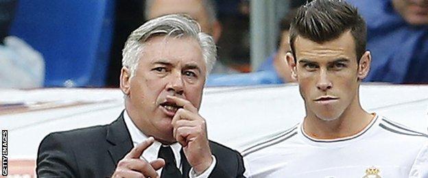 Carlo Ancelotti and Gareth Bale