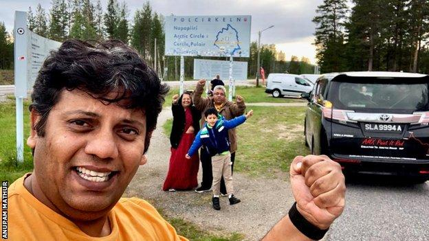 The Mathur family reach the Arctic Circle