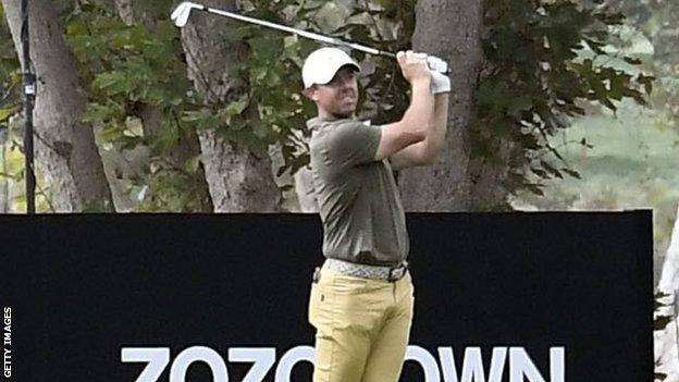 Rory McIlroy plays a shot during practice for the Zozo Championship in California
