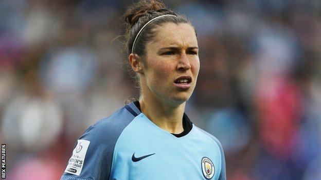 Manchester City forward Jane Ross