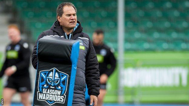 Glasgow Warriors head coach Dave Rennie