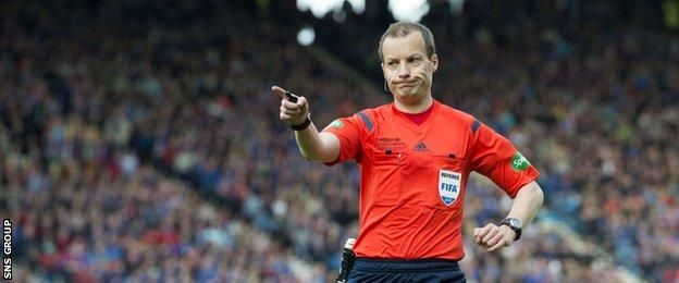 Willie Collum has twice been in charge of the Scottish Cup final