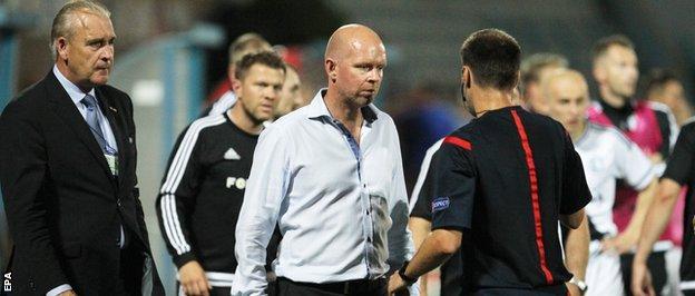 Legia Warsaw coach Henning Berg