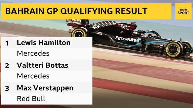 Lewis Hamilton takes 98th career pole in Bahrain