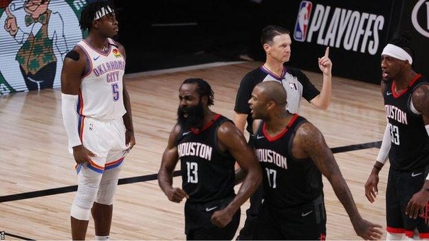 Rockets beat Thunder to set up play-off series against Lakers thumbnail