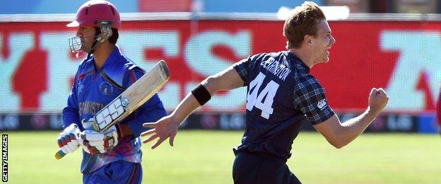 Scotland lost to Afghanistan at last year's World Cup