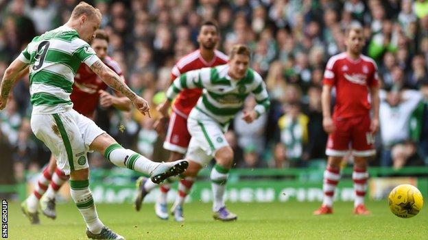 Aberdeen lost 3-1 when they visited Celtic Park in October
