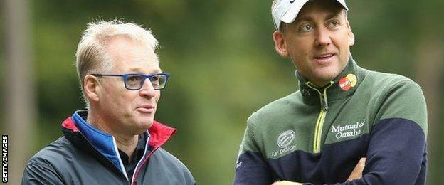 Keith Pelley, European Tour chief, and golfer Ian Poulter