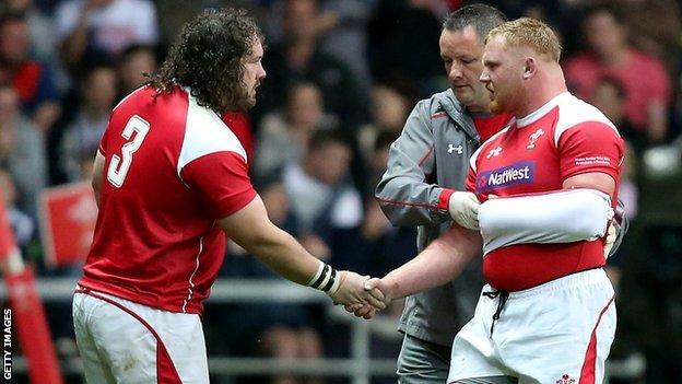 Wales props Adam Jones and Samson Lee