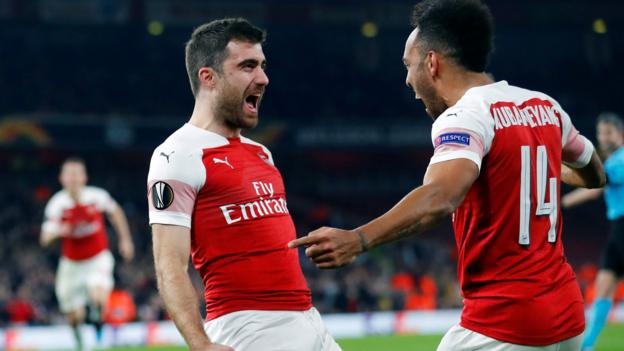 Arsenal 3-0 (3-1) Bate Borisov: Gunners ease into Europa League last 16 thumbnail