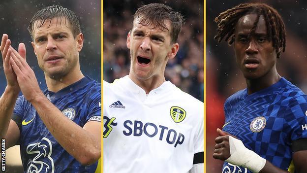 Cesar Azpilicueta (Chelsea), Diego Llorente (Leeds United), Trevoh Chalobah (Chelsea)