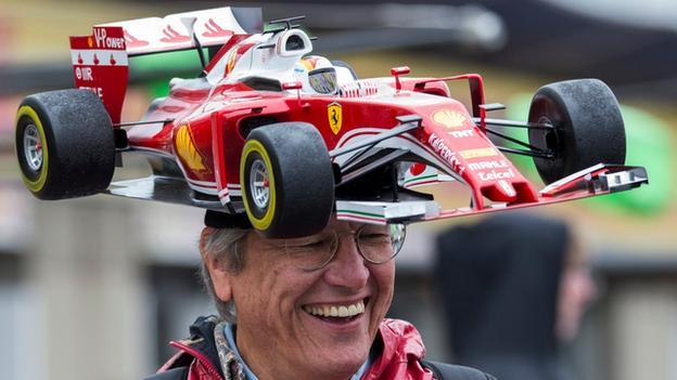 Ferrari fan at the Canadian Grand Prix