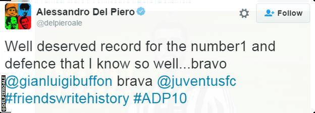 Alessandro Del Piero tweet