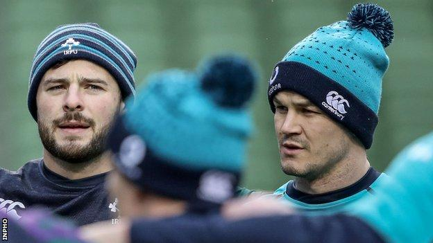 Robbie Henshaw and Johnny Sexton