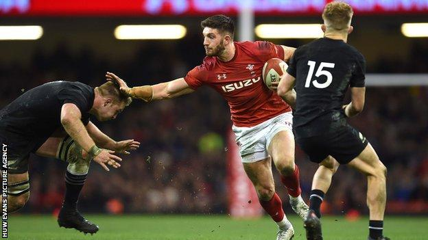 Owen Williams started two of his three Wales internationals in the centre
