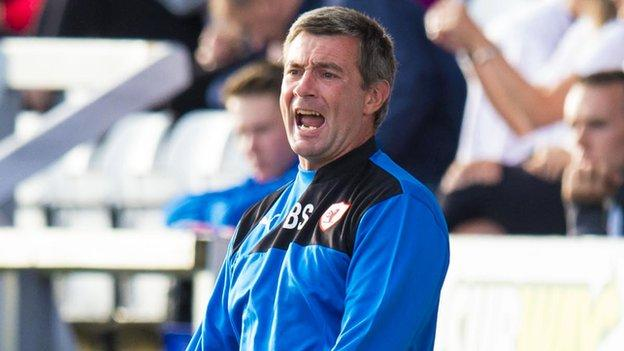 Barry Smith makes a point as Raith Rovers manager