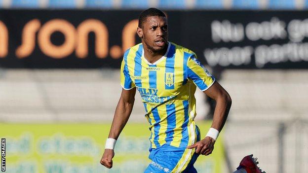 Comoros' Said Bakari in action for Dutch side RKC Waalwijk