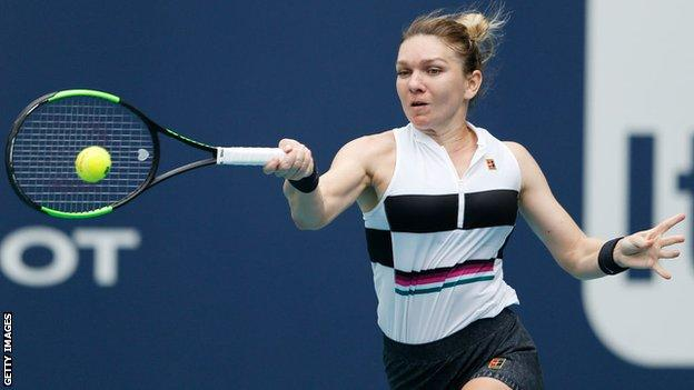 Simona Halep during her match against Polona Hercog