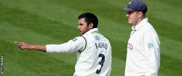 Adil Rashid and Andrew Gale