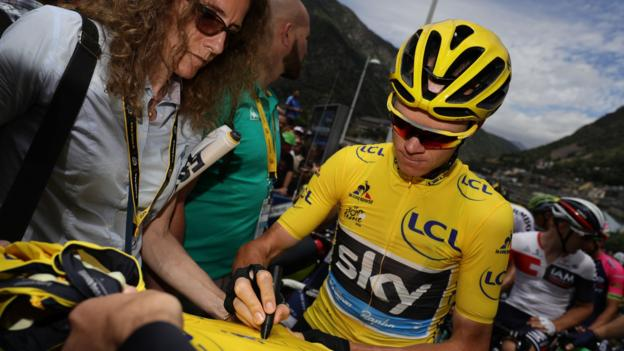 Tour de France: Michael Matthews wins stage 10 as Chris Froome retains lead