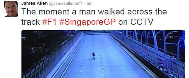 James Allen tweet at Singapore