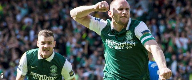 David Gray scored the winning goal as Hibs beat Rangers in the Scottish Cup final last season