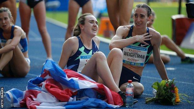 Laura Muir and Laura Weightman