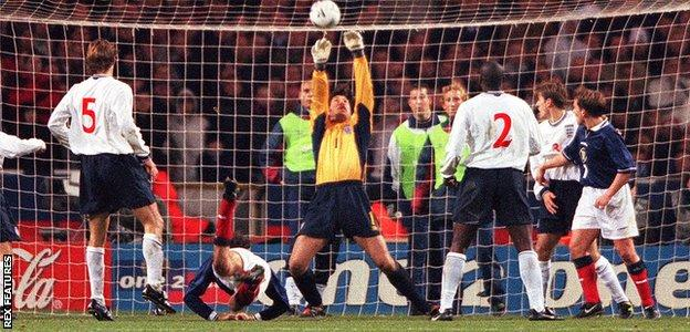 David Seaman denied Christian Dailly the goal that would have taken the tie to extra time