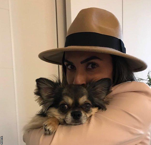 Marta and her dog