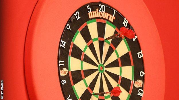 A general image of a darts board