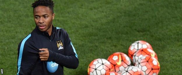 Man City forward Raheem Sterling