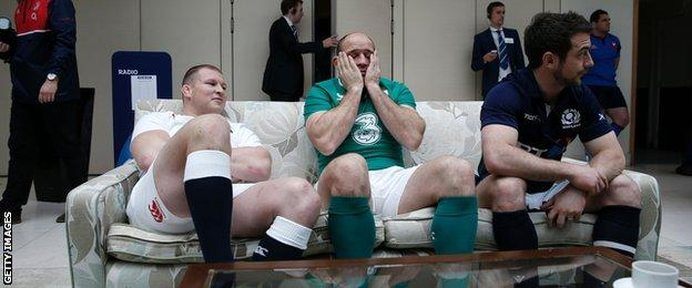 Dylan Hartley, Rory Best and Greig Laidlaw