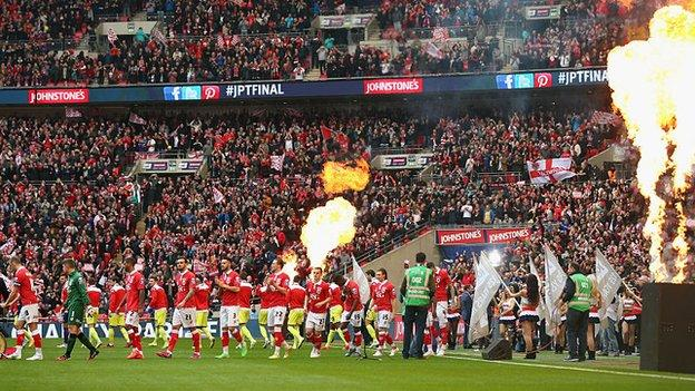 Walsall had never previously played at Wembley until last season's Johnstone's Paint Trophy final