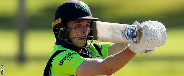 Lorcan Tucker operated at wicketkeeper-batsman on Ireland's tour with BBC Sport NI columnist Gary Wilson at home in Belfast on paternity leave