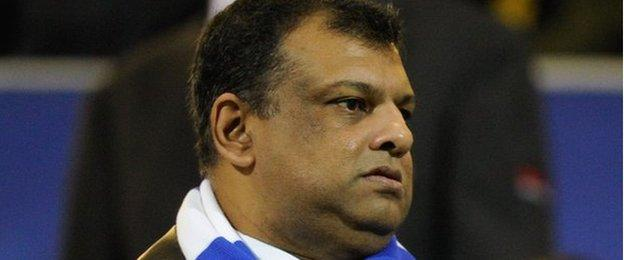 QPR owner Tony Fernandes was making his first appearance of the season at Loftus Road