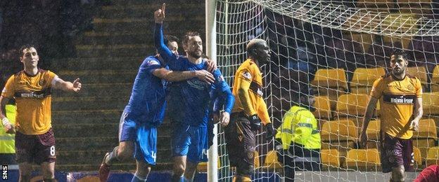 Kari Arnason celebrates after giving Aberdeen the lead